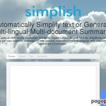 Simplish | An automatic multi-lingual simplifying & summarizing tool online.