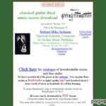 Classical guitar sheet music – downloadable scores