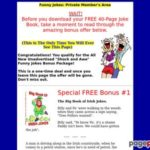 Funny Jokes – Free Joke Book Packed With The Funniest Jokes