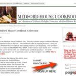 Medford House Cookbooks