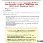 Colon Cleanse Your Way To Better Health