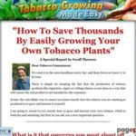 Tobacco Growing Made Easy – Brand New Product In Hot Niche: Tobacco!