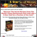 Experience the World's Finest 5 Star Restaurant Recipes