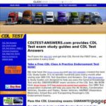 CDL TEST ANSWERS – Driver License Test questions and answers | HAZMAT ENDORSEMENT – CDL PRACTICE TEST – STUDY GUIDE FOR CDL TEST – CLASS A CLASS B PERMIT TEST