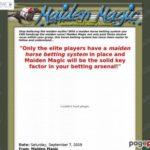 Maiden Magic- The Original Horse Betting System – Maiden Horse Betting System- Maiden Magic!