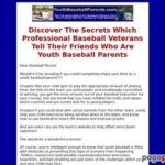 Youth Baseball Parents